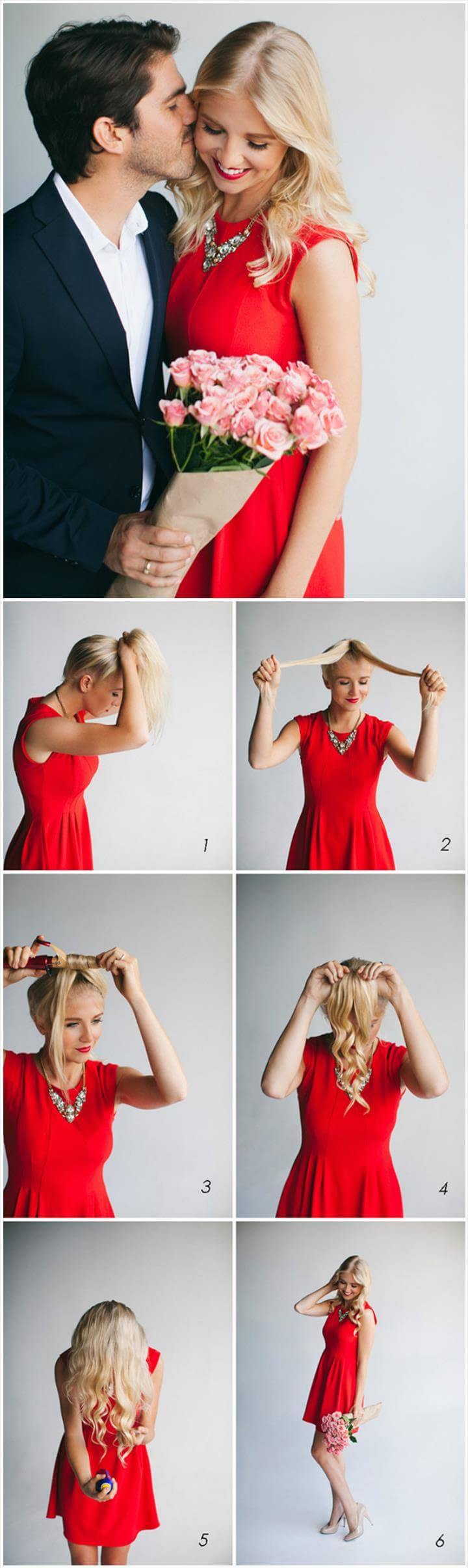 easy and quick curl hairstyle