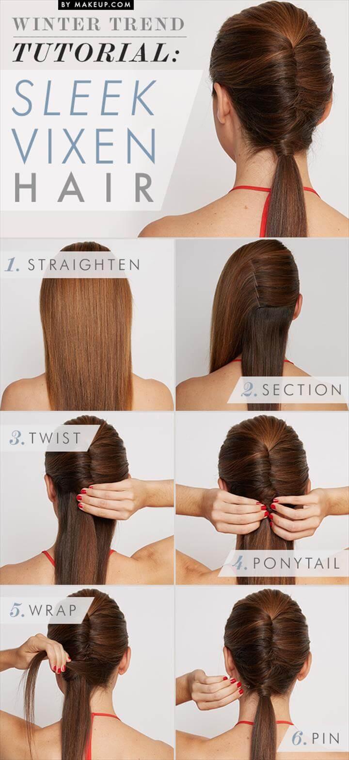 simple ans sweet sleek vixen hairstyle