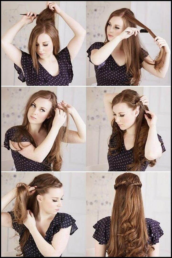 half-twisted hairstyle