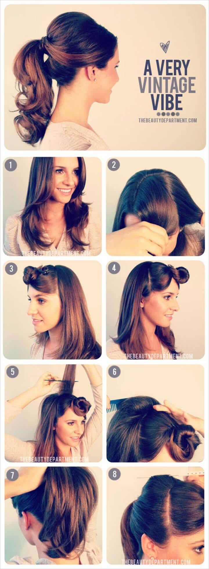 vintage ponytail hairstyle