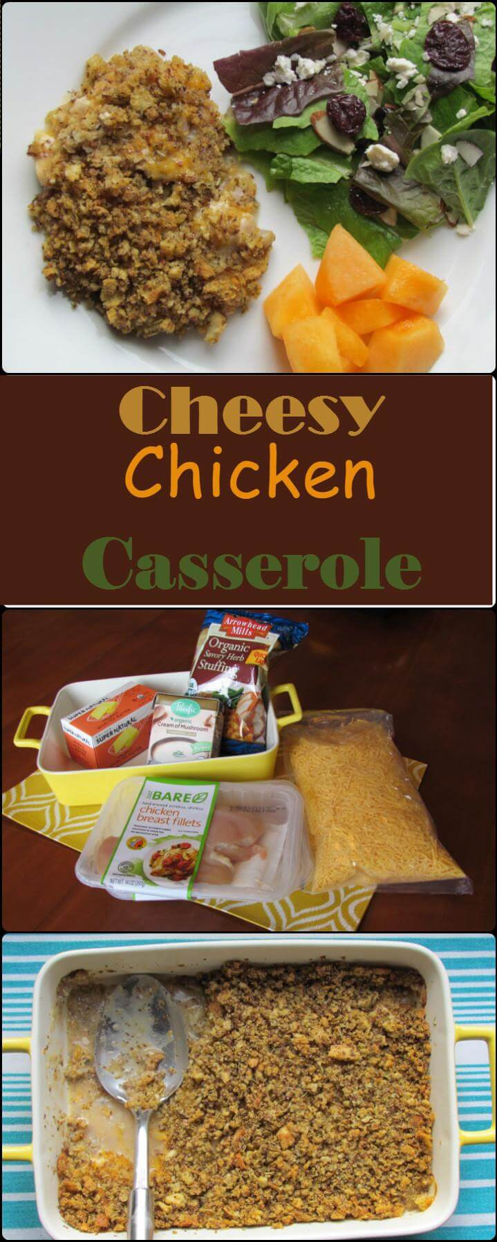 yummy cheesy chicken casserole crowd meal