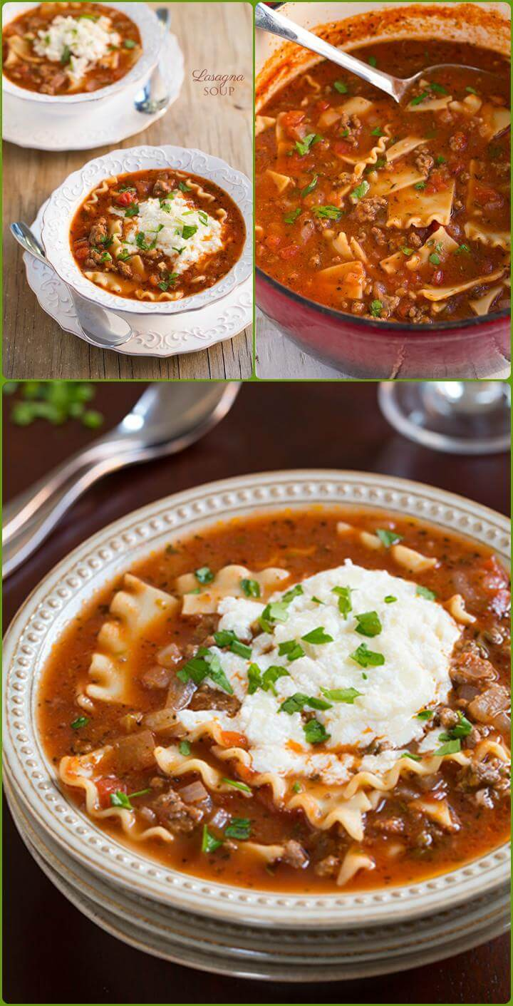lasagna soup to feed large groups