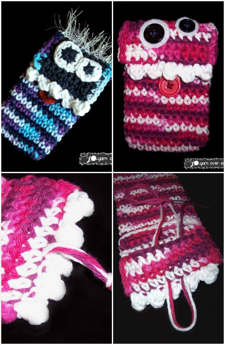 50 Free Crochet Phone Case Patterns - DIY & Crafts