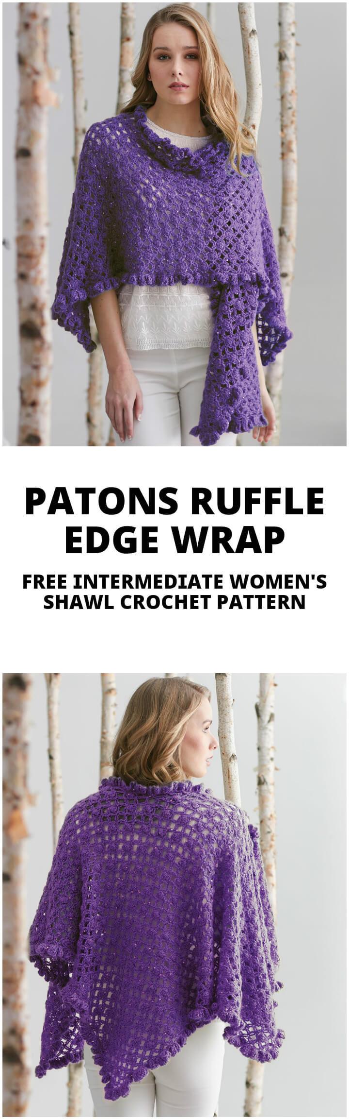 Patons Free Crochet Shawl Patterns : 100 Free Crochet Shawl Patterns - Free Crochet Patterns ...