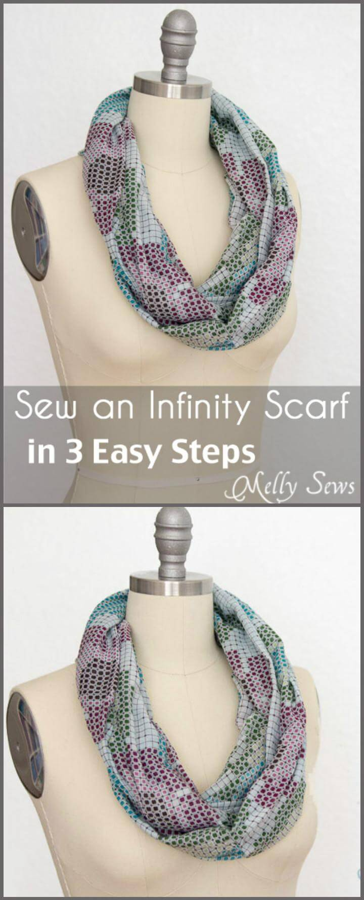super easy 3 step infinity scarf