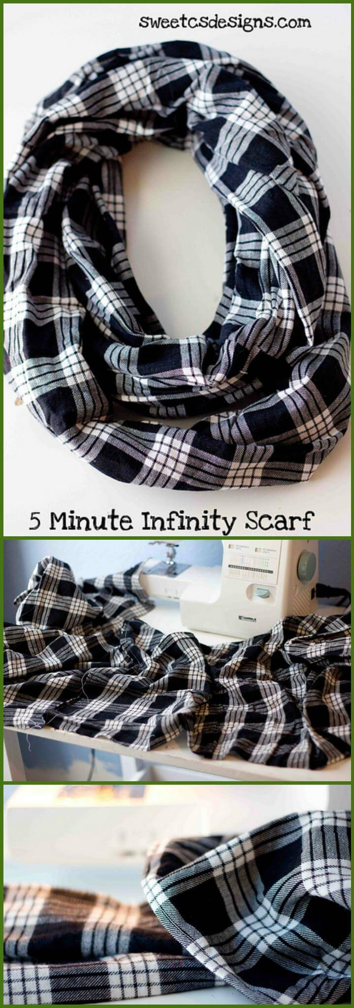 easy 5 minute infinity scarf