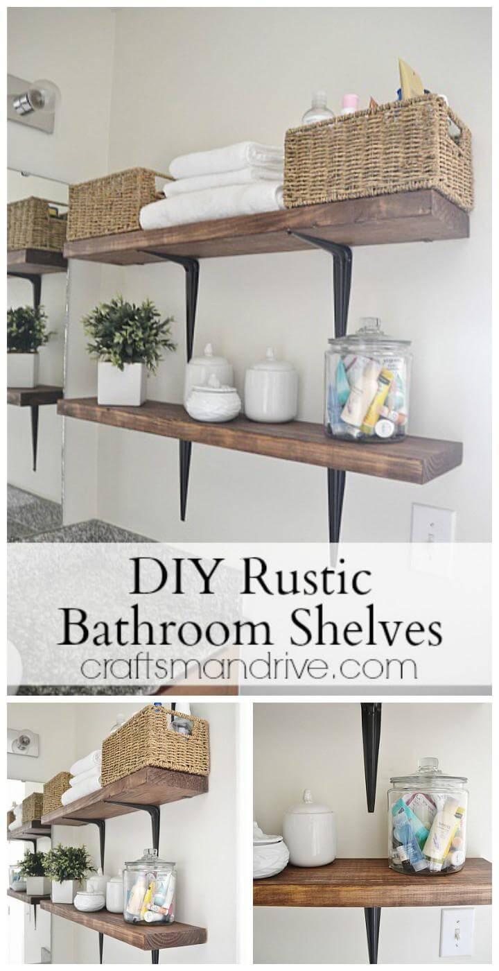 easy bathroom wall shelves