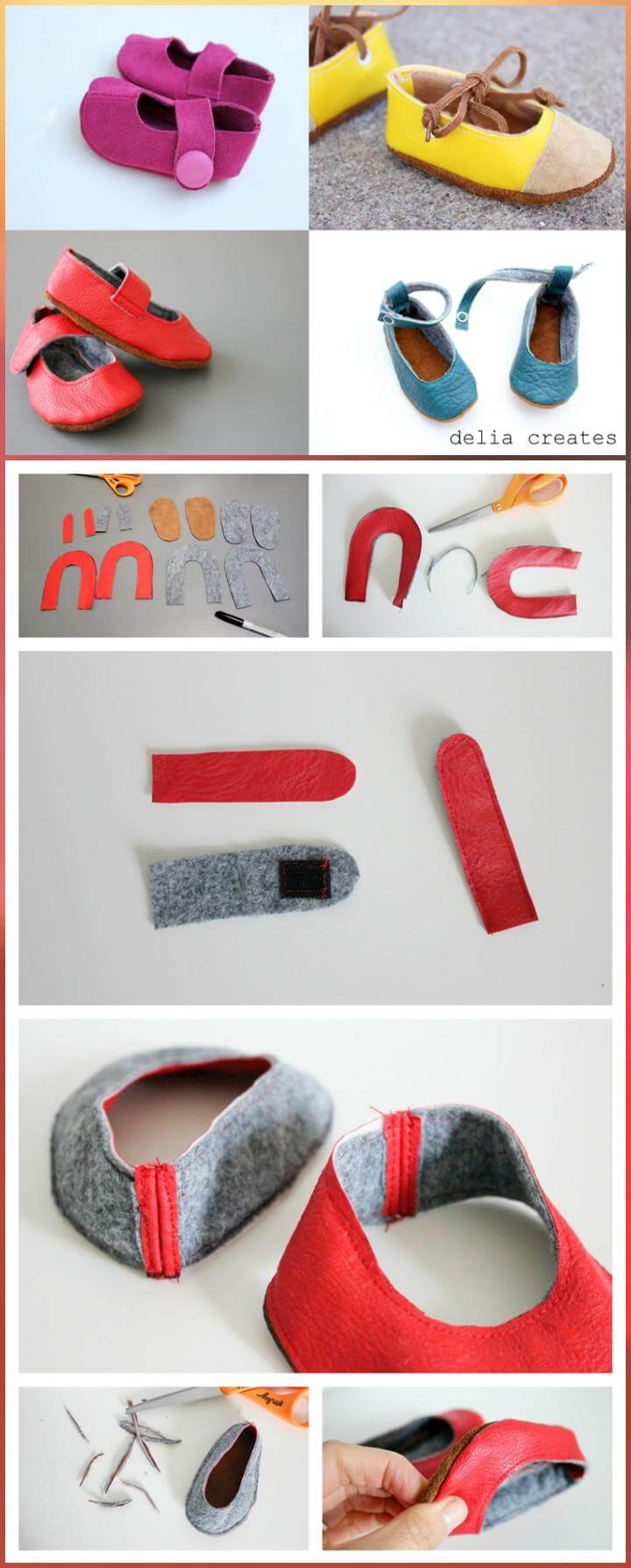 self-made leather baby shoes