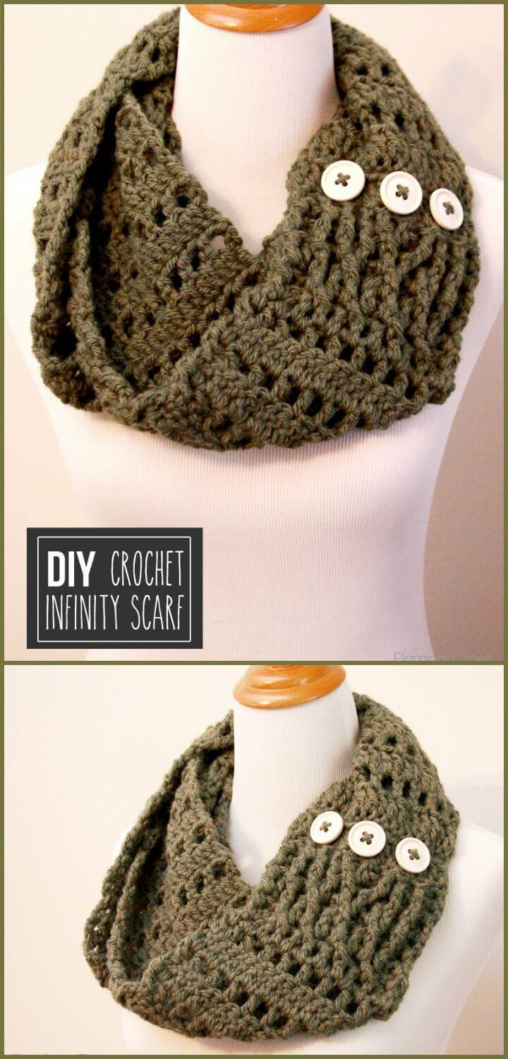 easy chunky crochet infinity scarf free pattern