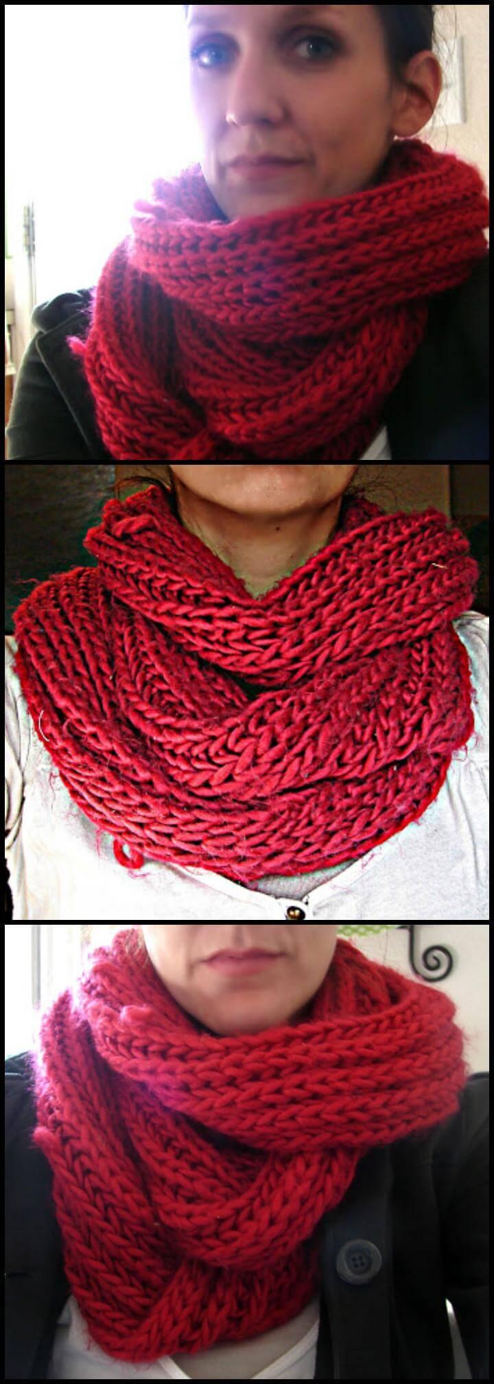 handmade chunky knock off infinity scarf
