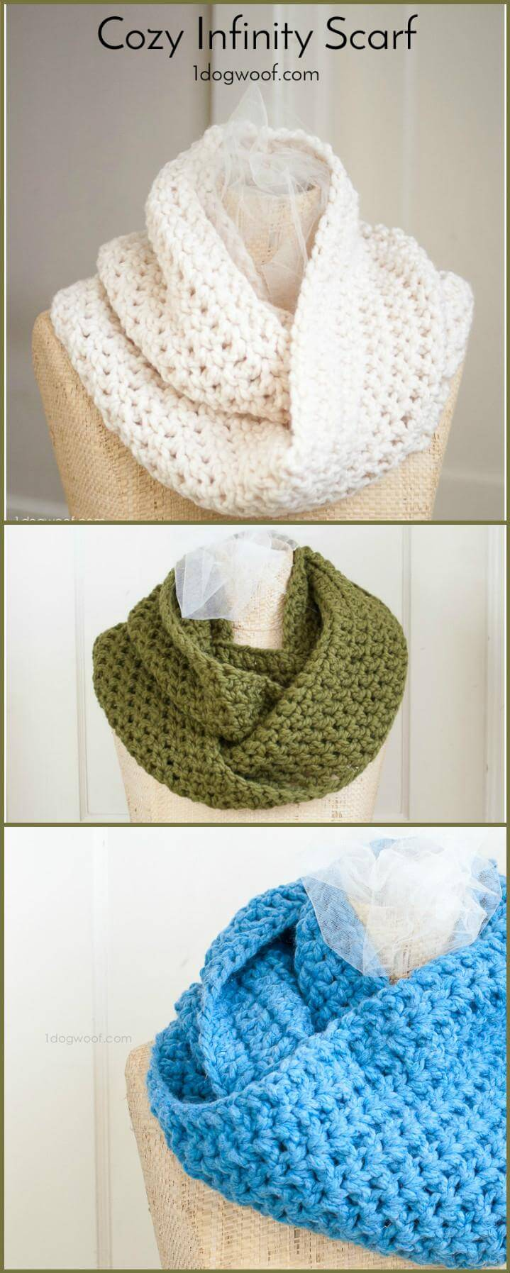 easy and cozy infinity scarf free pattern