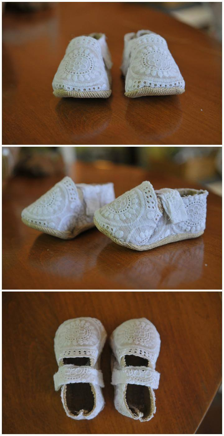 handmade lace baby shoes