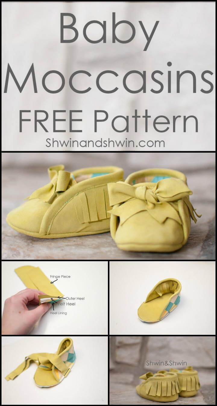 handmade leather felt baby moccasins