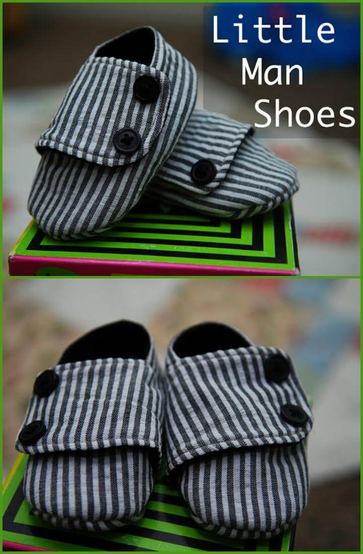 DIY easy little man shoes