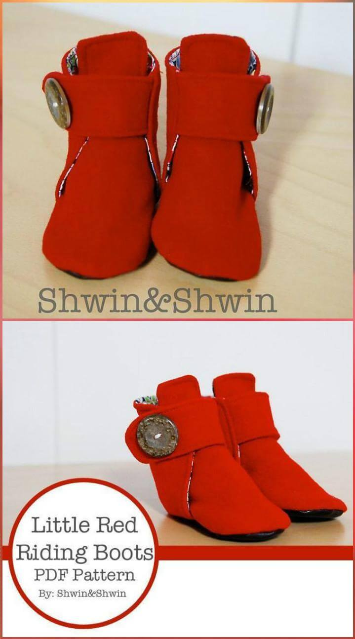 handmade easy little red riding boots
