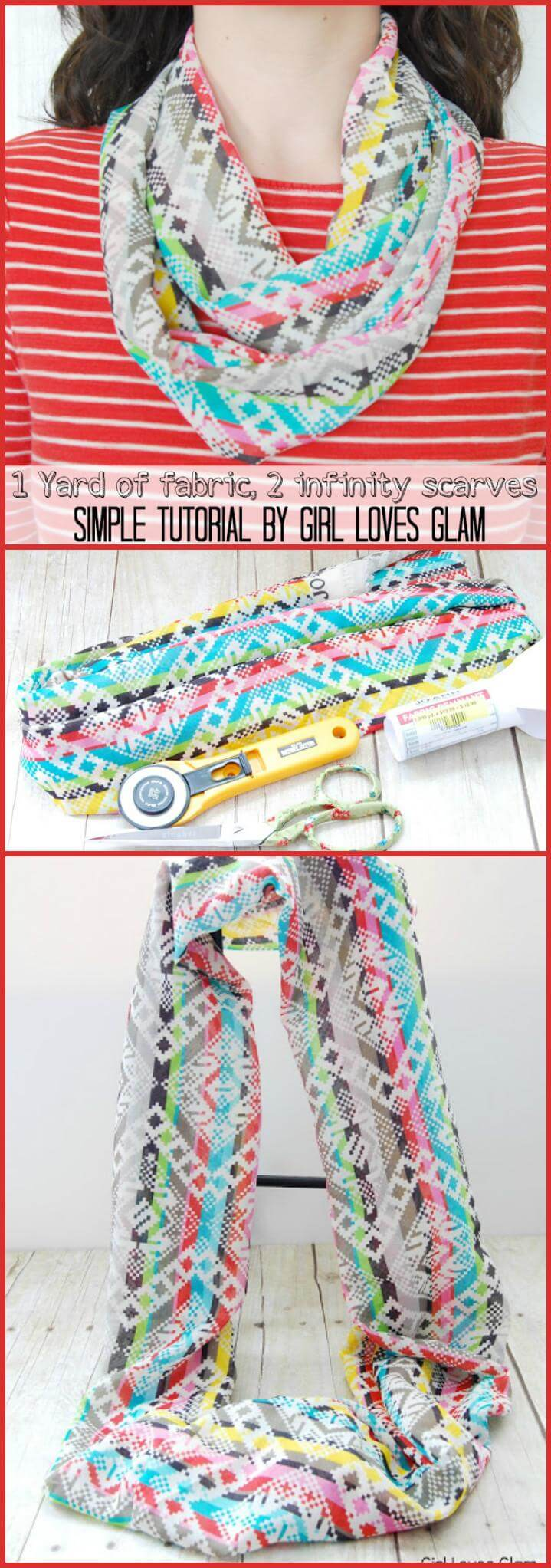 easy fabric infinity scarf tutorial