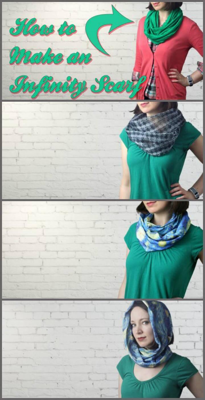 fashion-worthy DIY infinity scarf