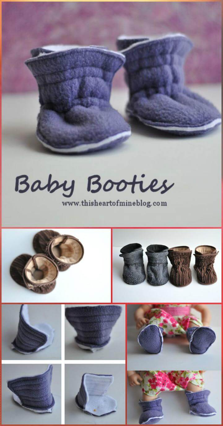 easy handcrafted baby booties