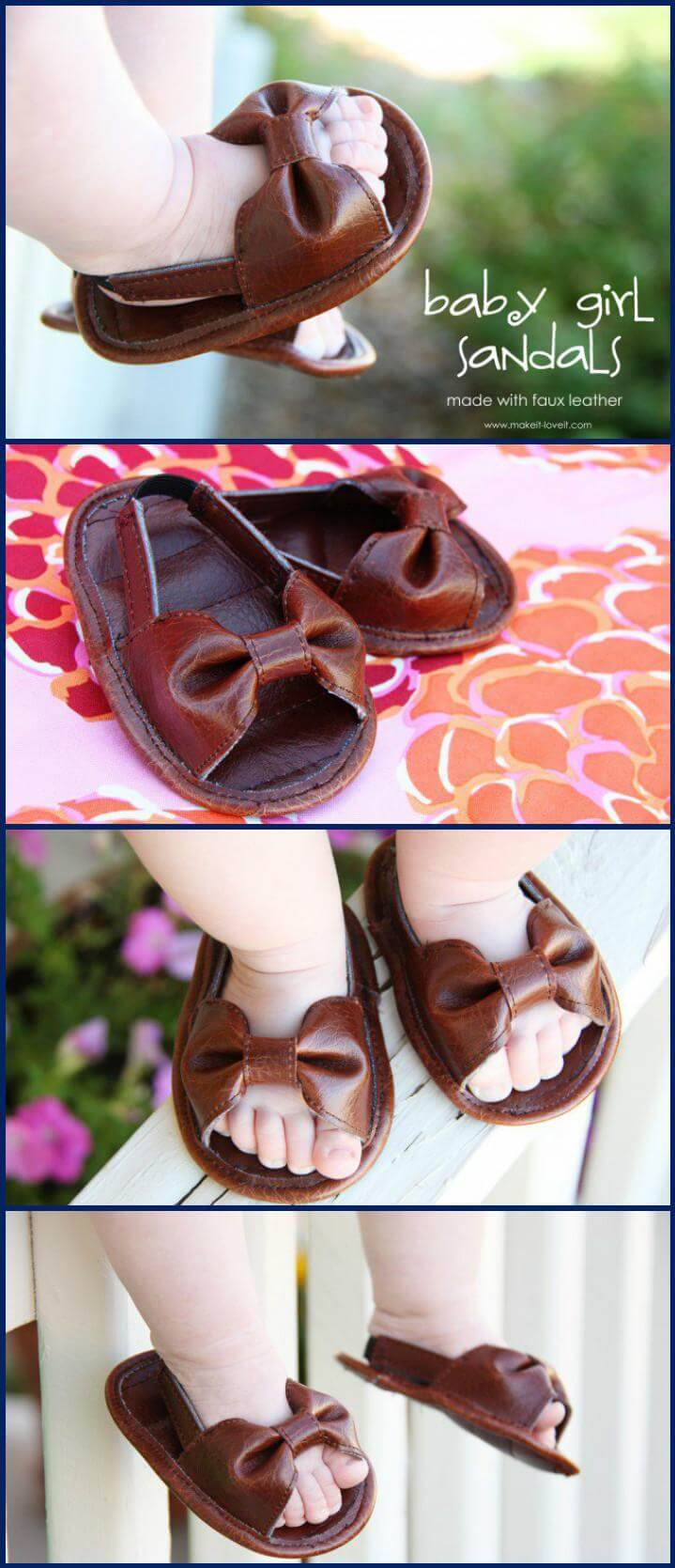 cute handcrafted baby sandals