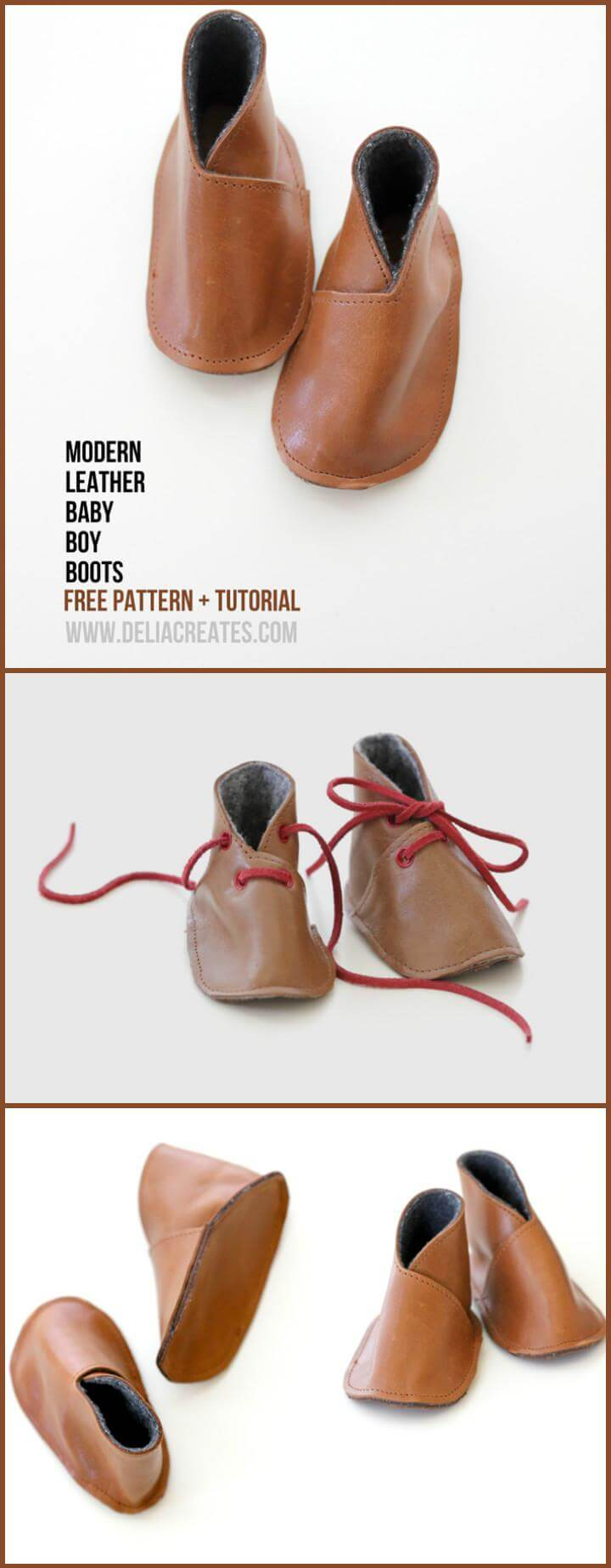 self-made modern leather baby shoes