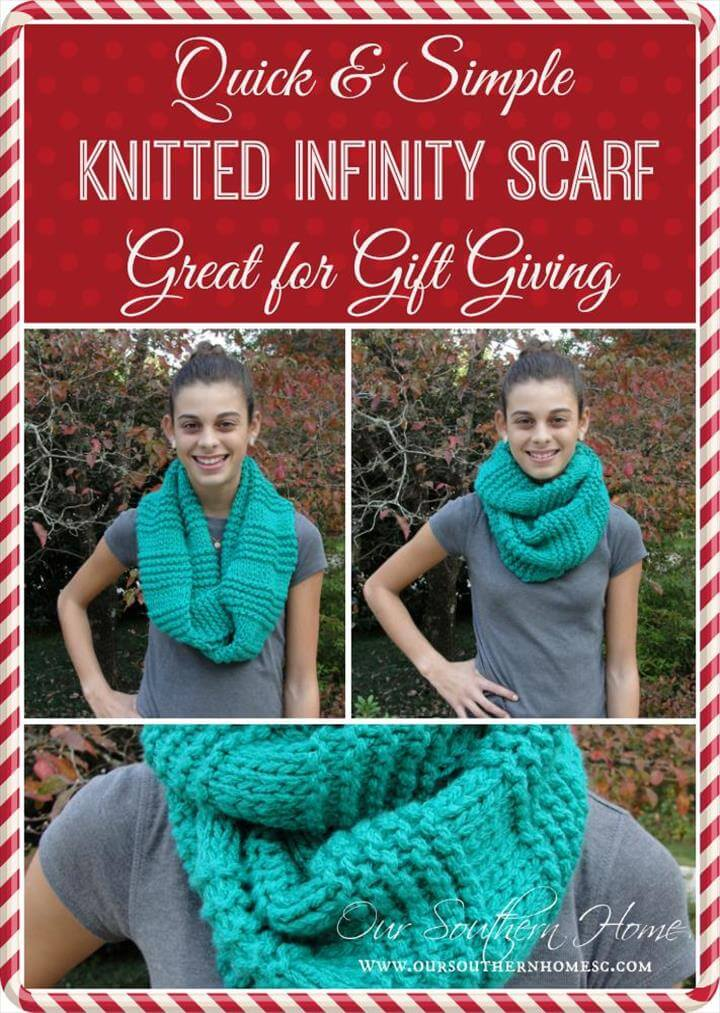easy knitted infinity scarf