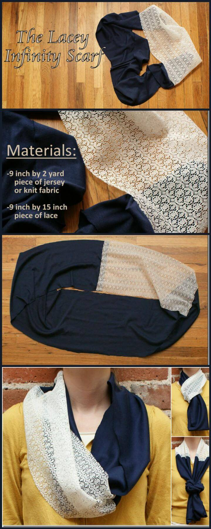 cool lacey infinity scarf