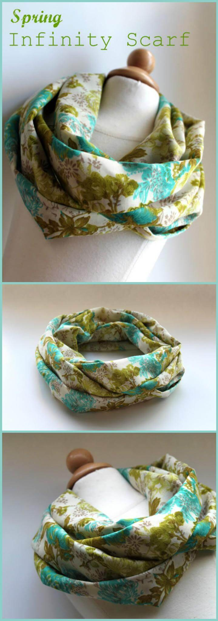 easy spring infinity scarf