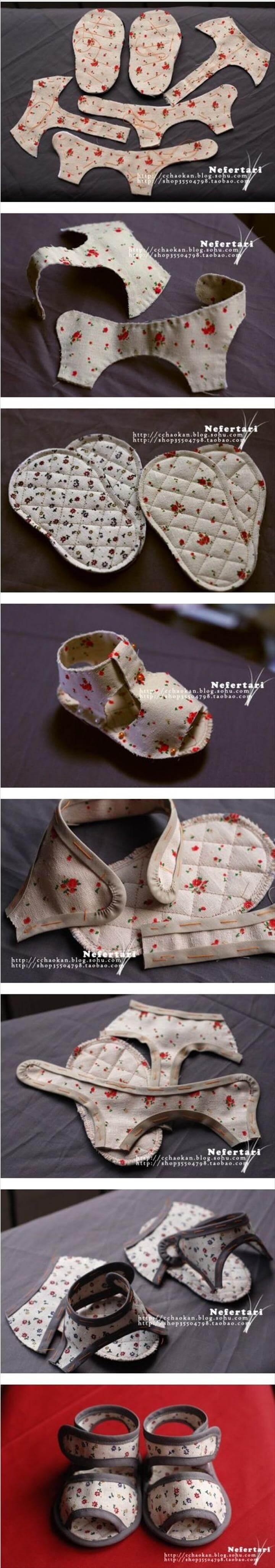 handmade stunning baby sandals