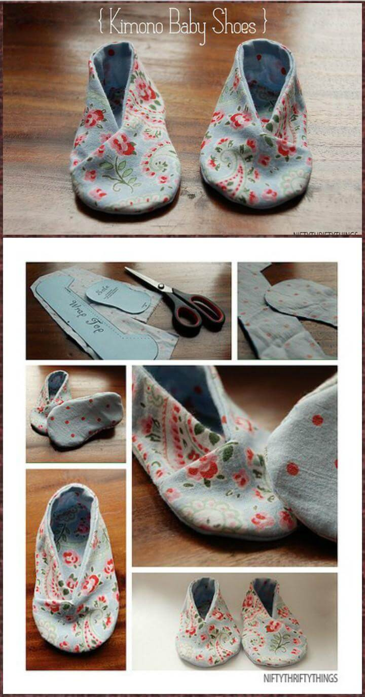 handmade kimono baby shoes