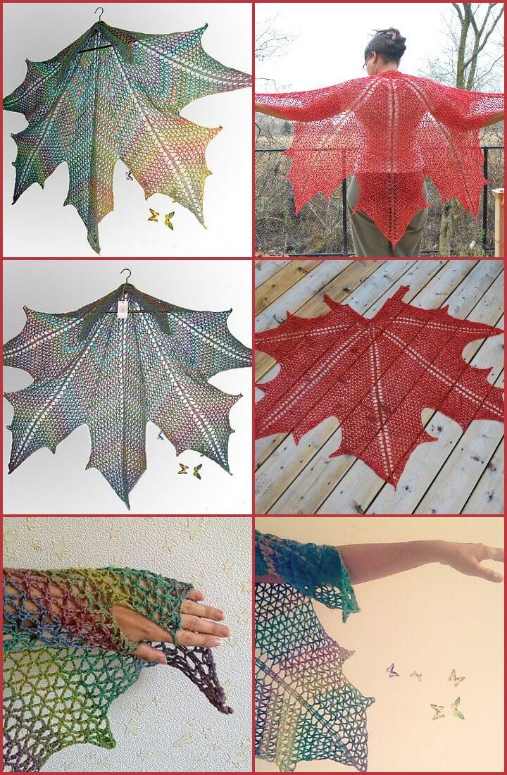 Free Crochet Pattern For Maple Leaf : 100 Free Crochet Shawl Patterns - Free Crochet Patterns ...