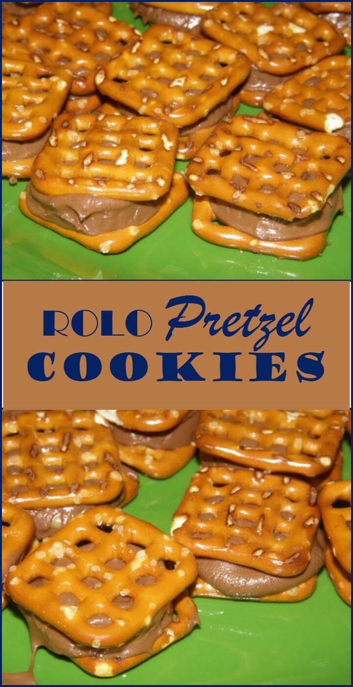 easy rolo pretzel cookies