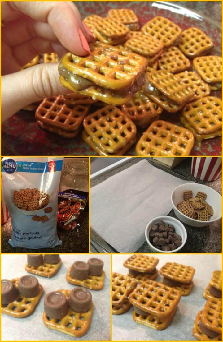 Easy Rolo Chocolate Pretzel Sammies