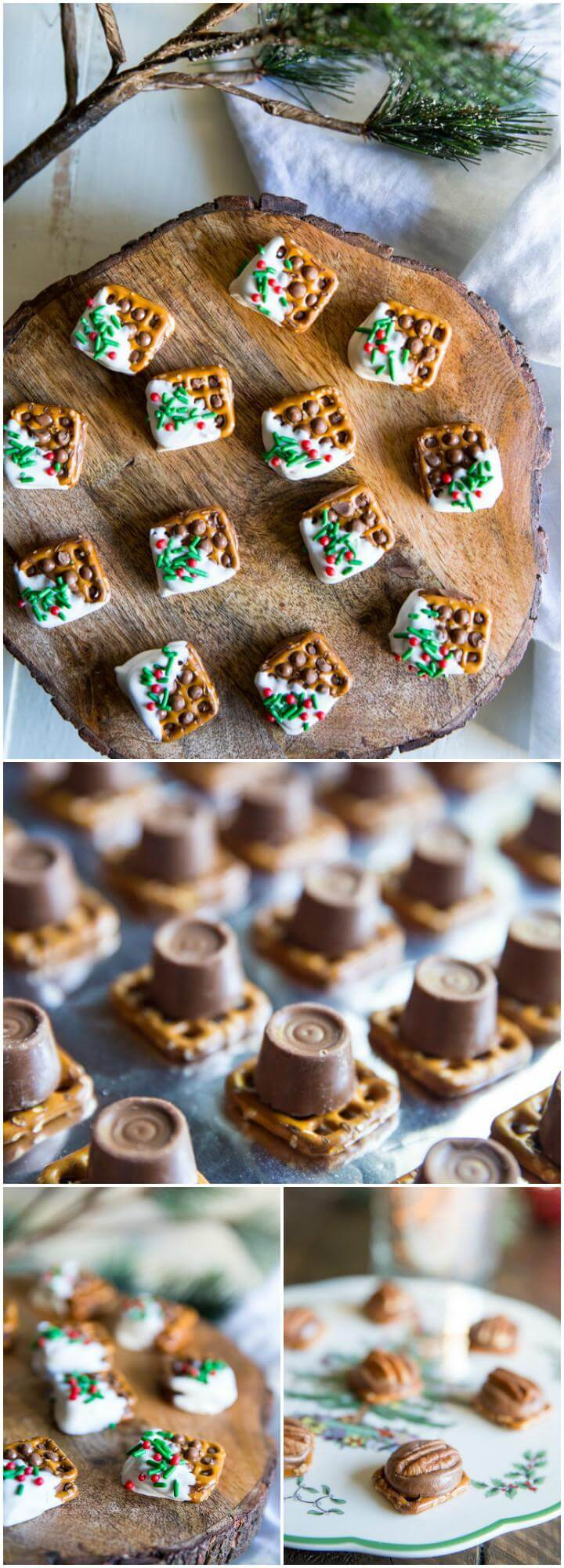 easy Rolo pretzel and turtle candies