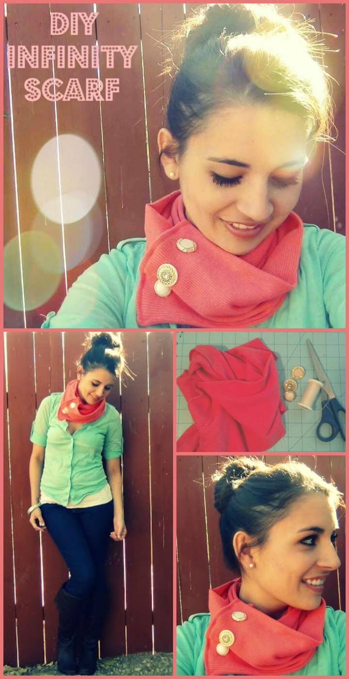 fashion-worthy self-made infinity scarf