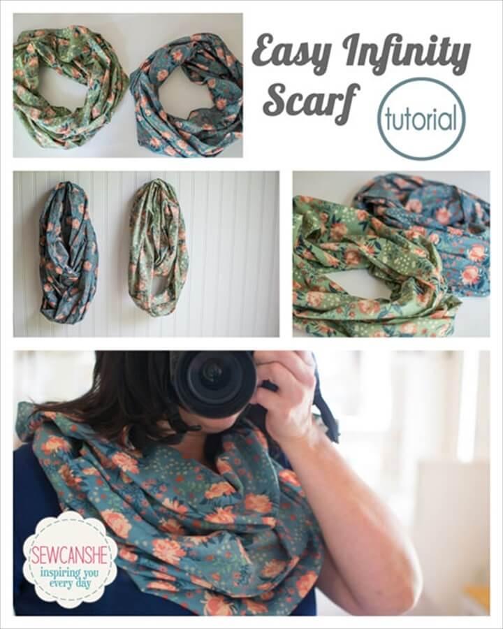 super easy DIY infinity scarf tutorial