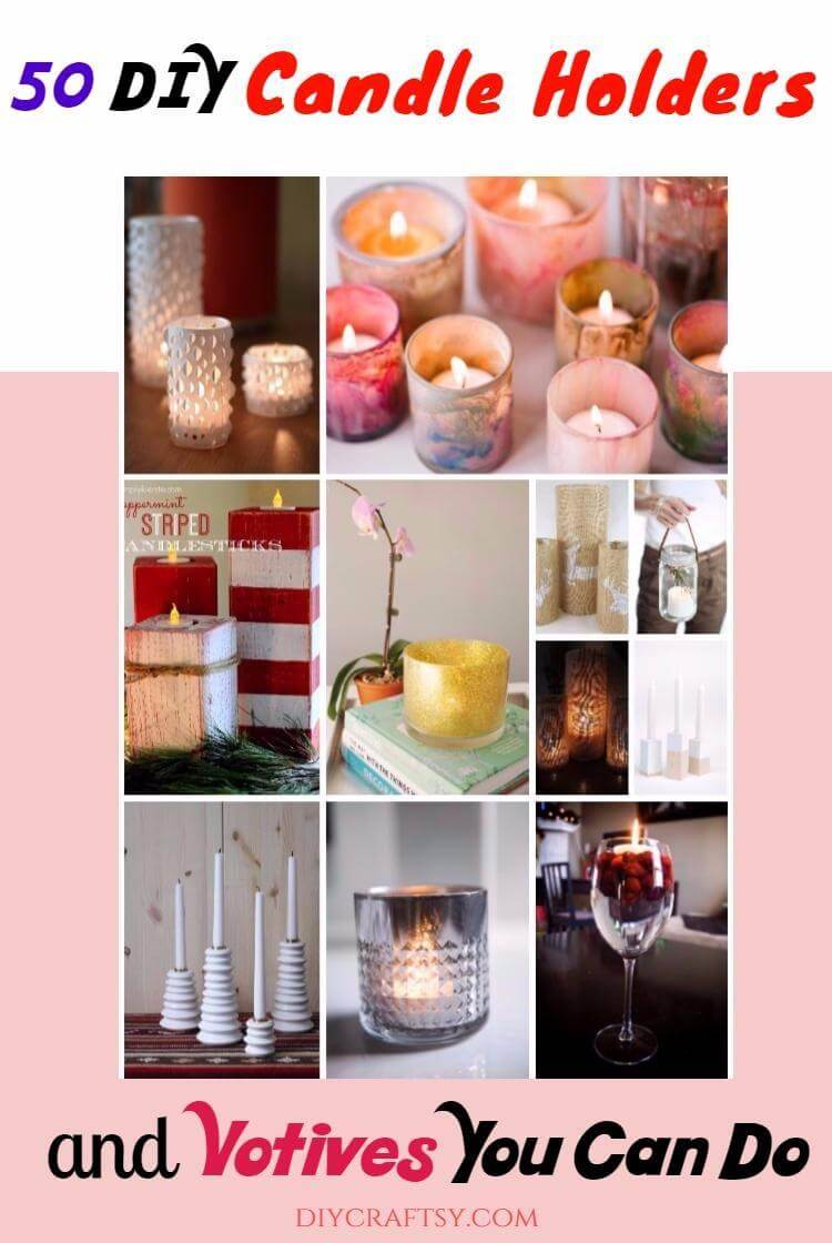 DIY Candle Holders and Votives