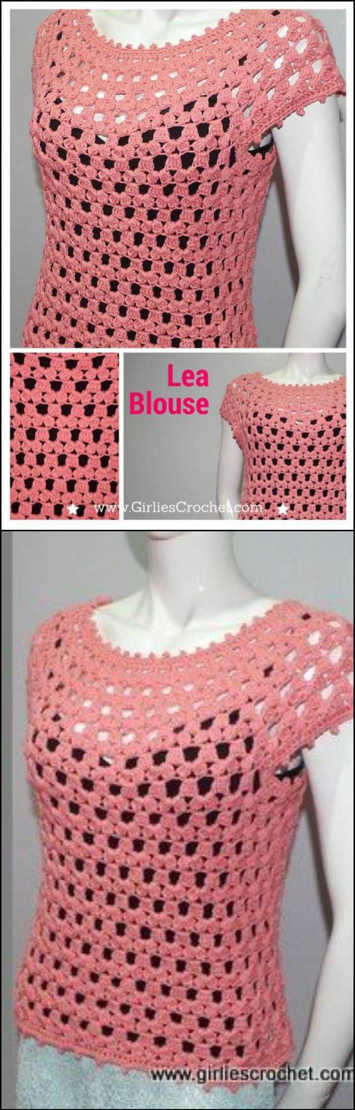 50+ Quick & Easy Crochet Summer Tops - Free Patterns ...