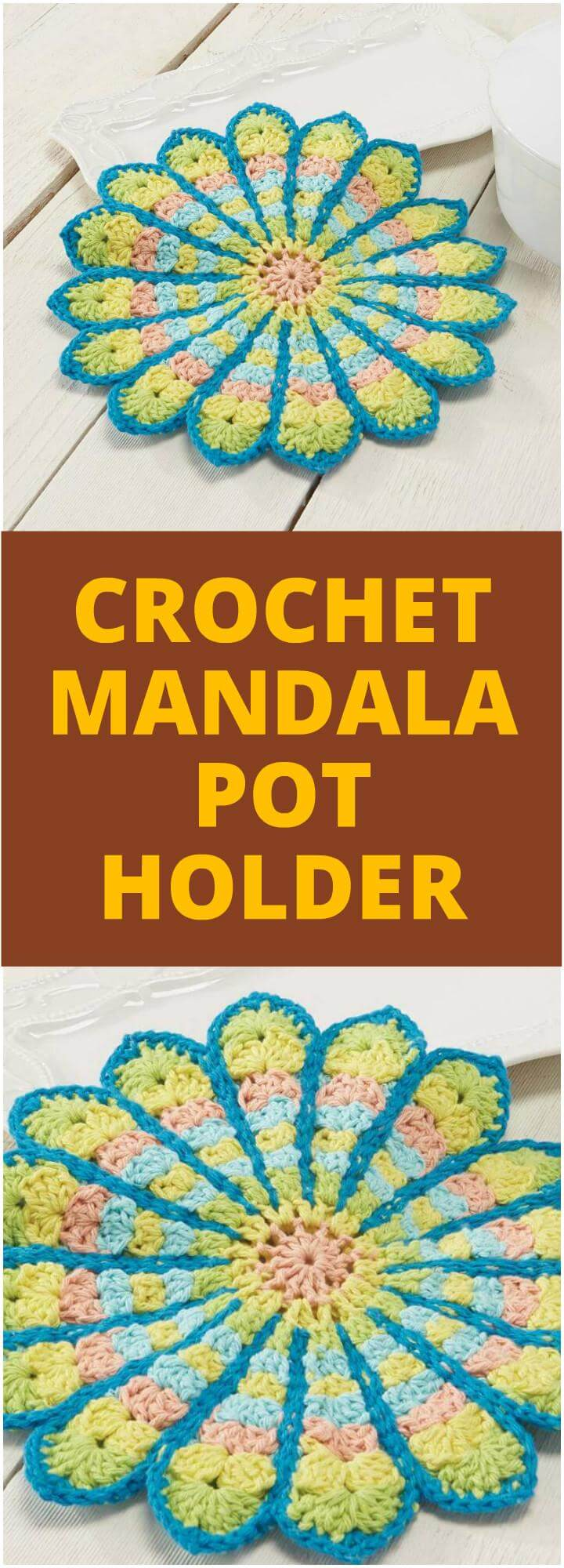 Crocheting Pot Holders : easy crochet mandala pot holder