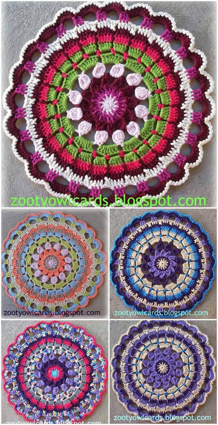 60 free crochet mandala patterns page 8 of 12 diy crafts. Black Bedroom Furniture Sets. Home Design Ideas