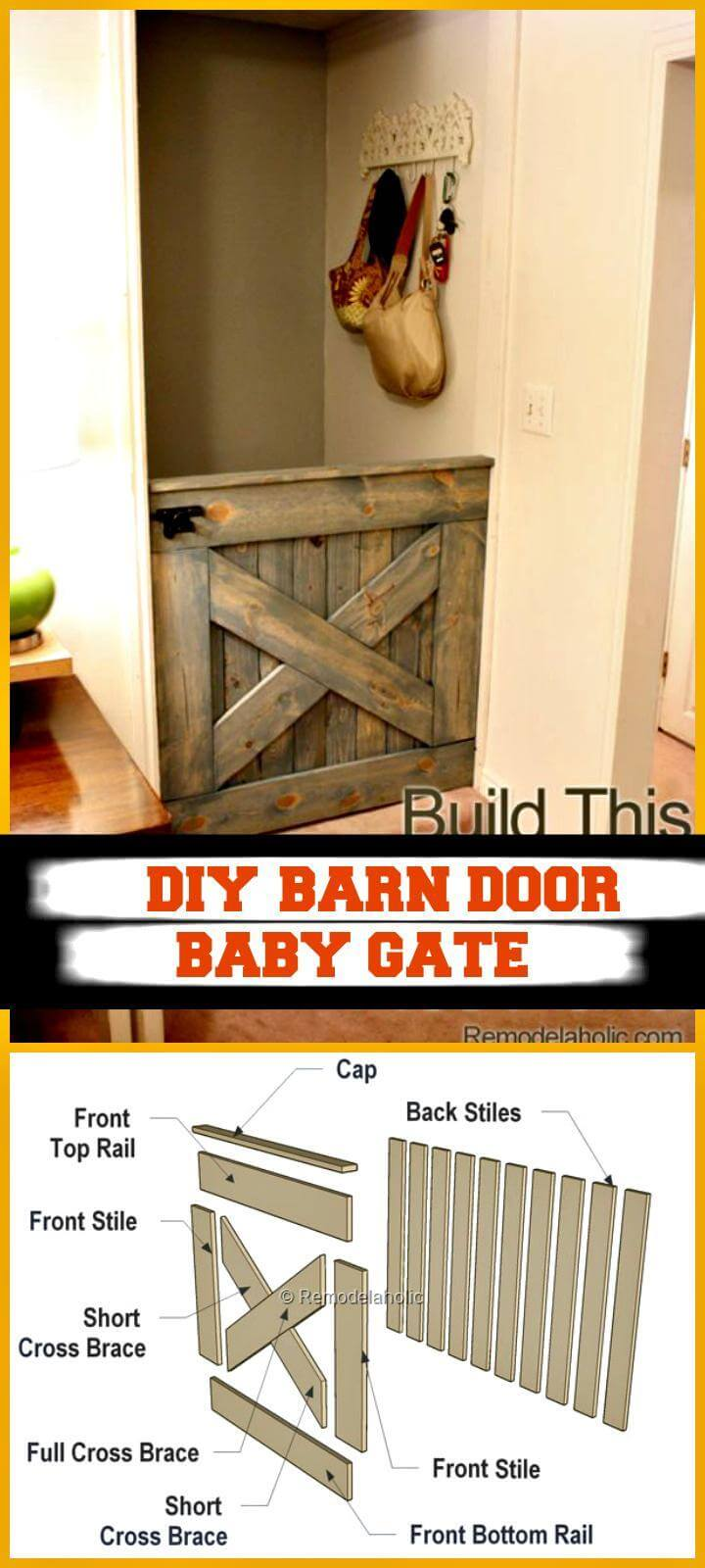 Dutch Door Baby Gate 30 Best Diy Baby Gate Tutorials On Cheap Budget Diy Crafts