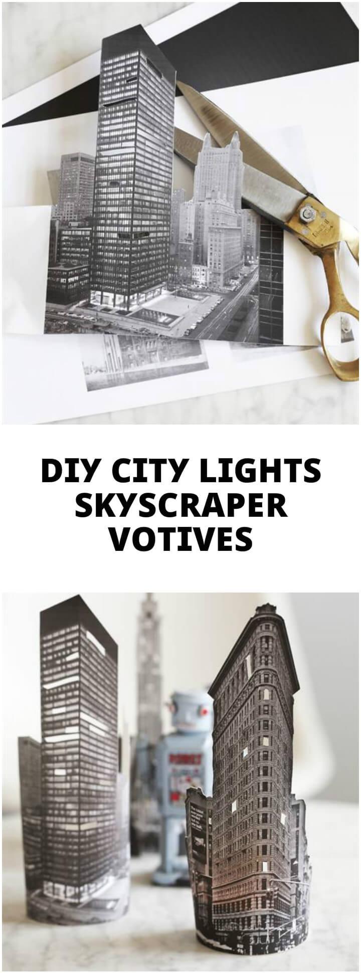 easy city lights skyscraper votives