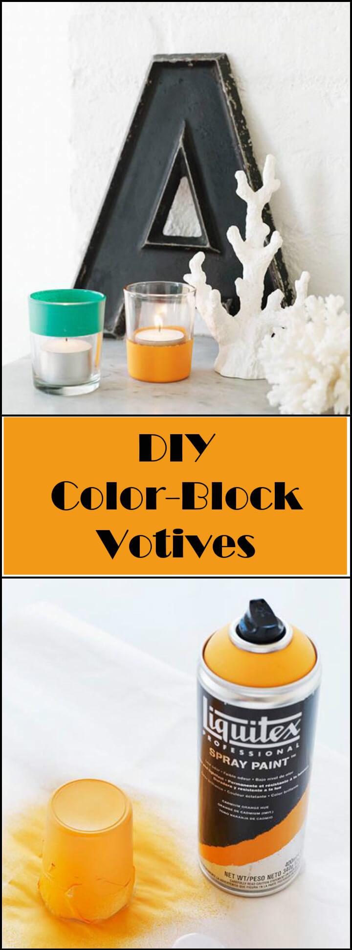 super beautiful color block votives