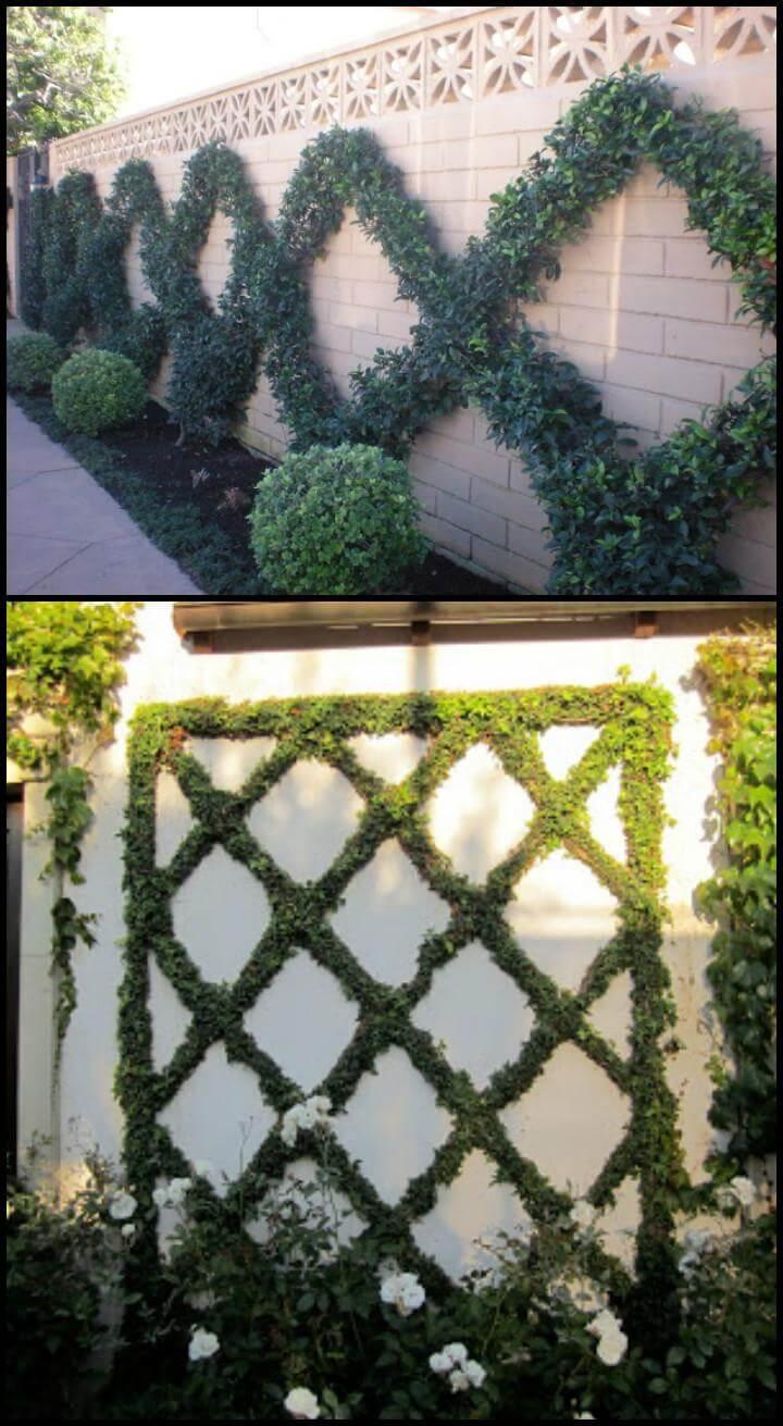 DIY diamond and criss patterns