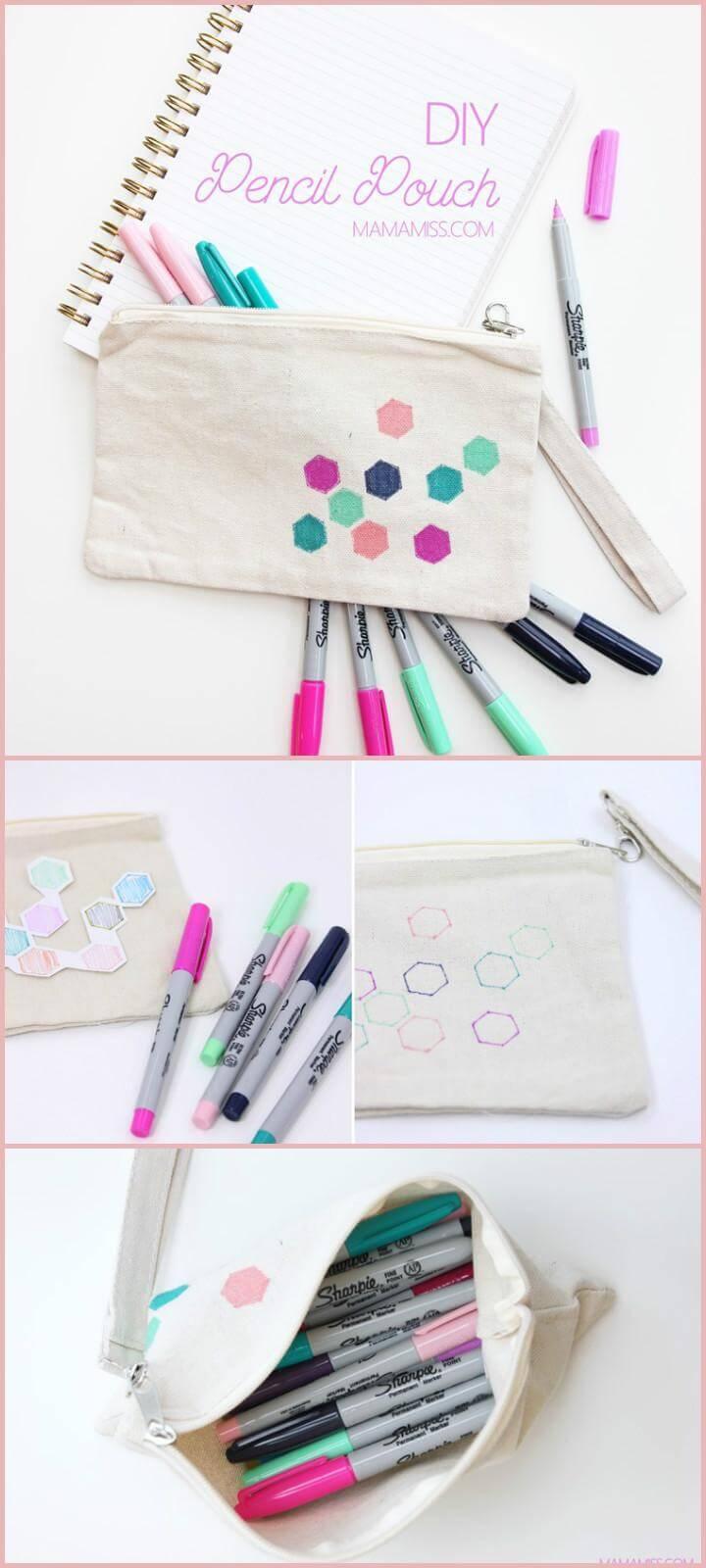 handmade pencil pouch