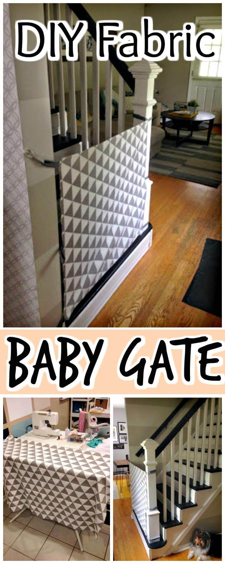 30 Best Diy Baby Gate Tutorials On Cheap Budget Diy Amp Crafts