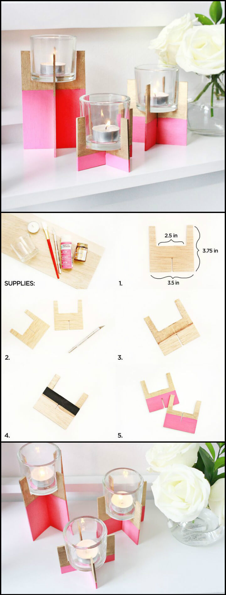 easy painted dipped balsa wood votives