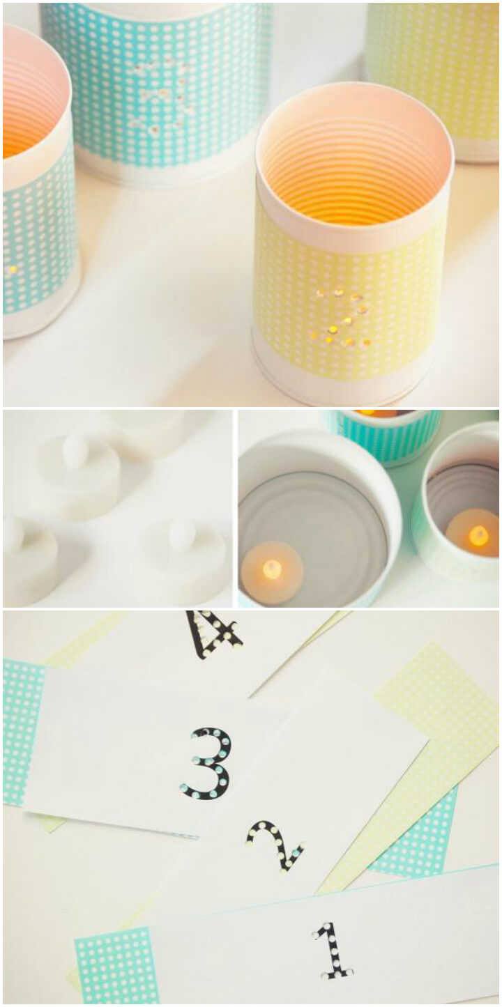 handmade punched tin votives
