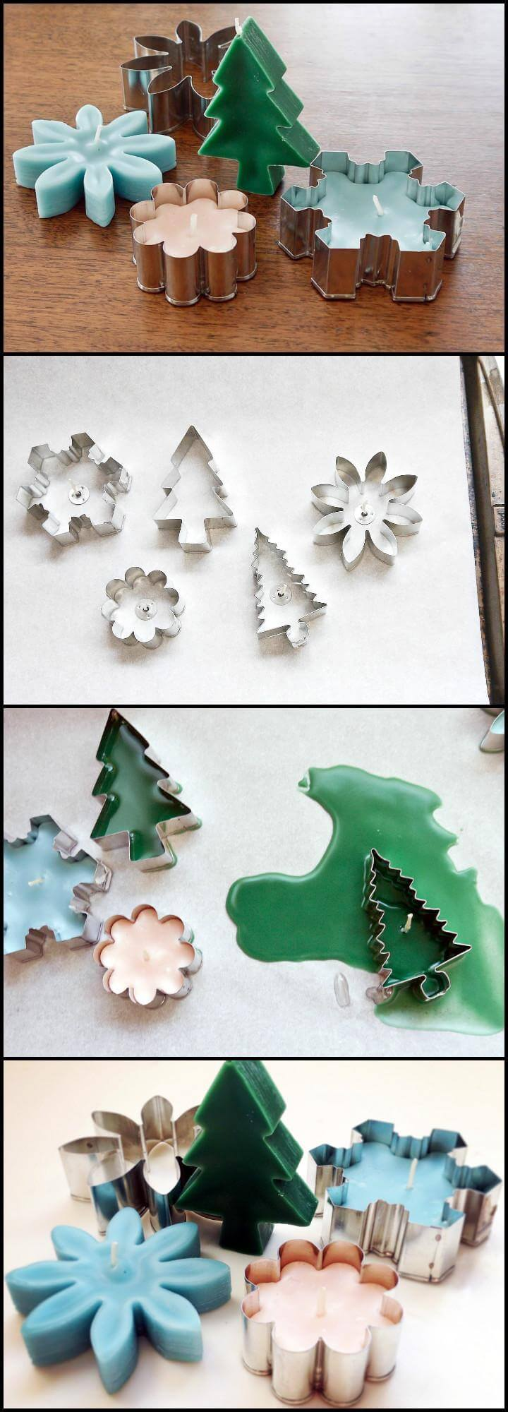 super easy cookie cutter candles