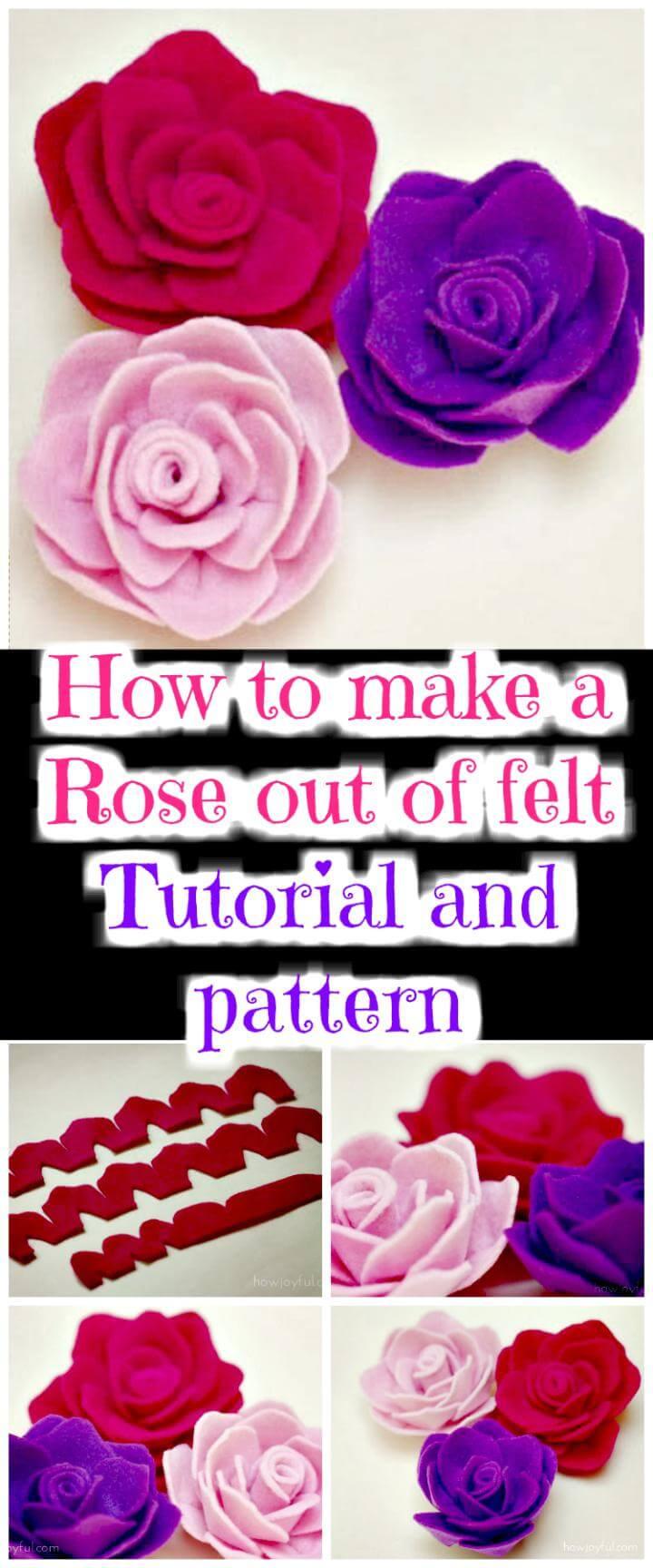 50 Easy Fabric Flowers Tutorial