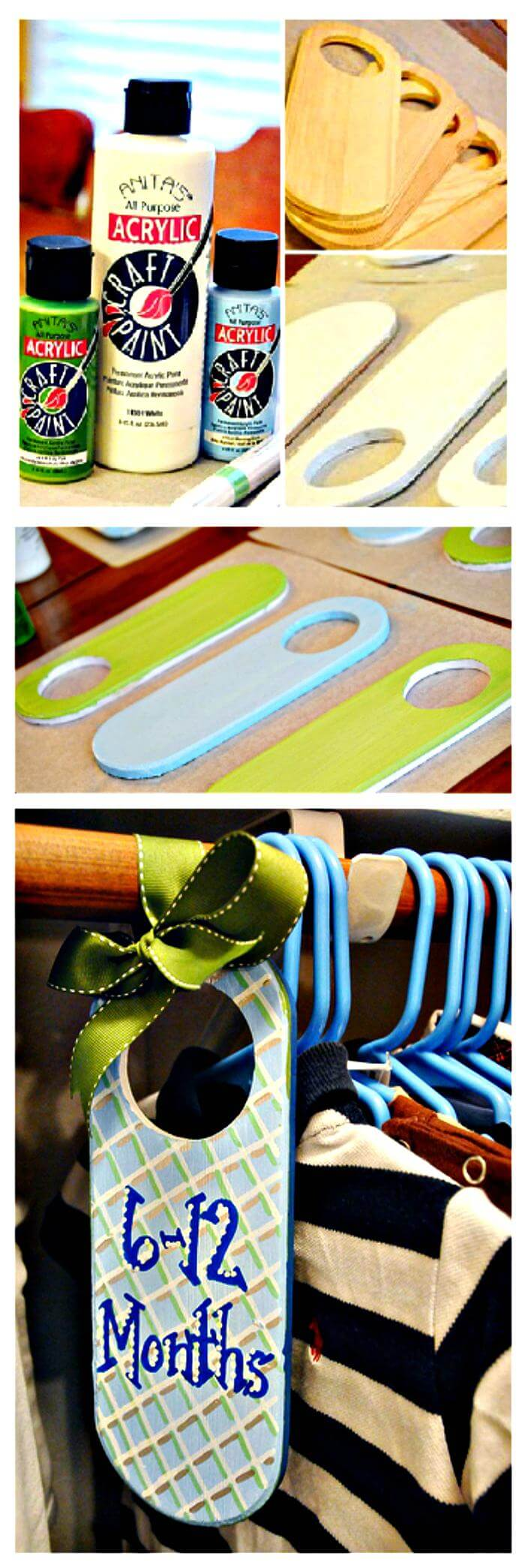 Baby Closet Dividers DIY to Organize Infant Clothing